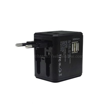 multi nation travel adapter with usb charger 1